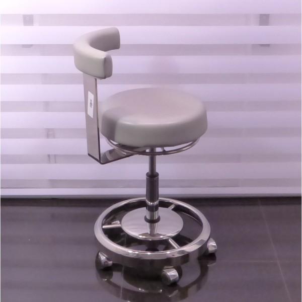 1 Rollhocker Arbeitsstuhl Polsterfarbe Grau